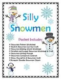 Silly Snowmen Packet- Math, Writing, & Art!