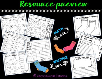 Silly Sock Day Math & Writing Activities