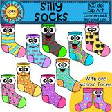 Silly Socks Clip Art