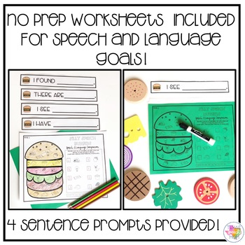 Silly Speech Burgers: Speech and Language Therapy
