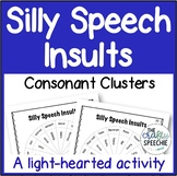Silly Speech Insults: A No-Prep Activity for Consonant Clusters