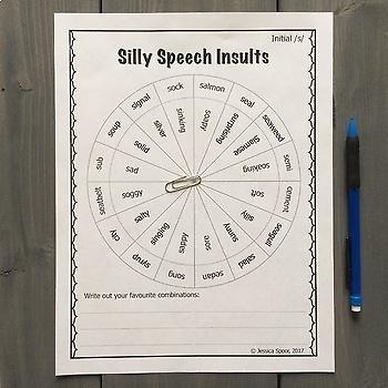 Silly Speech Insults: A No-Prep Money-Saving Bundle