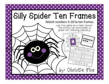 Silly Spider Ten Frames Number Match 5-10