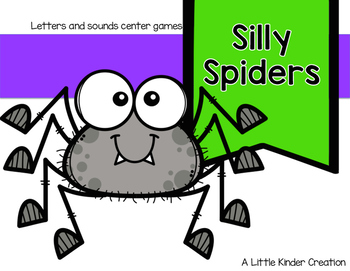 Silly Spiders letter and sound center game