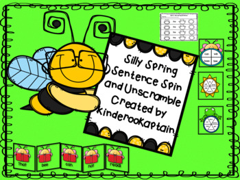 Silly Spring Sentences Spin and Unscramble