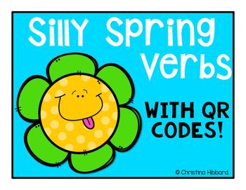 Silly Spring Verbs- QR Codes