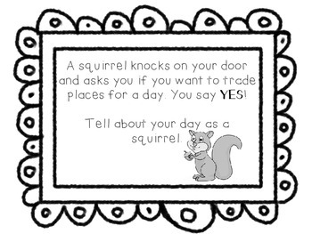 Silly Sqiurrel Writing Prompt
