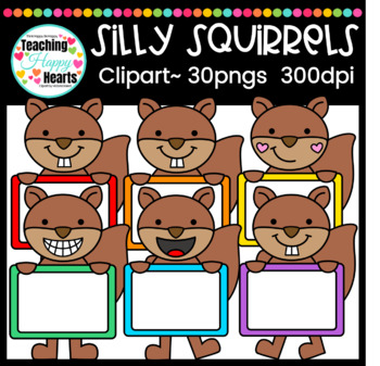 Silly Squirrels Clipart