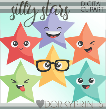 Silly Stars Clipart