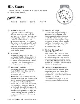 Silly States (Leveled Readers' Theater, Grade 3)