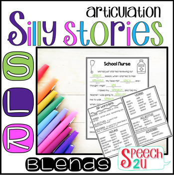 Articulation Carryover: Silly Story Fill-ins: /s/, /l/ and /r/ blends