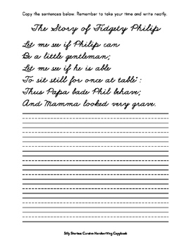 Silly Stories: Cursive Handwriting Copybook by Penmanship ...