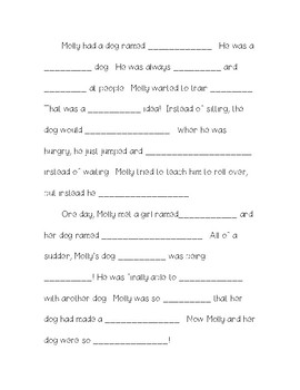 Silly Stories - Fill in the Blank