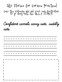 Silly Stories for Cursive Practice - C