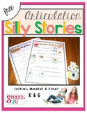 Articulation K and G: Pictured Silly Stories & Word Lists