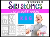 Silly Story Fill-in Word lists: K and G