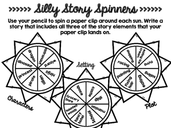 Silly Story Spinners Freebie