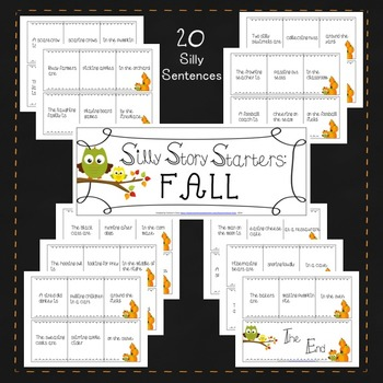 Silly Story Starters: Fall Edition