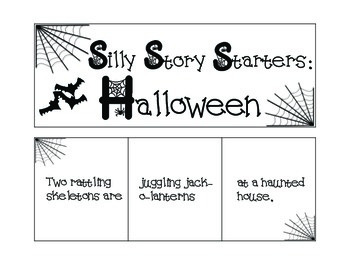 Silly Story Starters: Halloween
