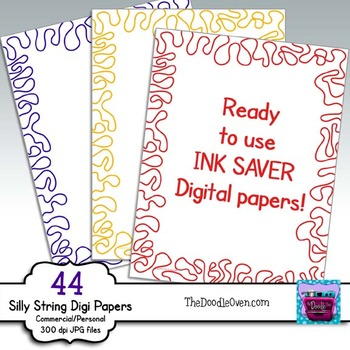 Silly String Digi Papers - Ready-to-Use