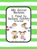 Silly Summer Sentences - A Beach Themed Mixed Up Sentences Activity