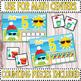 Silly Summer Snowmen Ten Frame Counting Mats - Kindergarten Math (1-10)