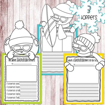 Silly Summer Snowmen Literacy Pack - Writing Prompts, Poems, & More