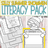 Silly Summer Snowmen Literacy Pack - Writing Prompts, Poem