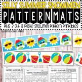 Silly Summer Snowmen Pattern Mats & Printables - Winter Math