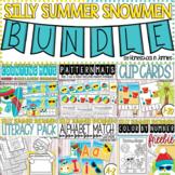 Silly Summer Snowmen Resource Bundle - Literacy & Math (Ki