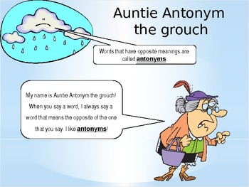 Silly Synonym and Auntie Antonym Powerpoint