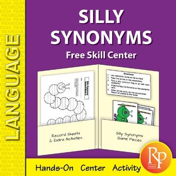 Silly Synonyms: Skill Center {Freebie}