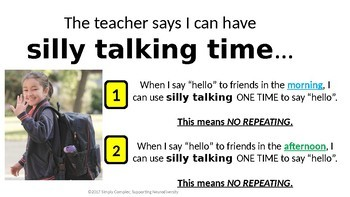 Silly Talking Time; Reducing Voice Changing Disruptive Behavior; Verbal Stimming