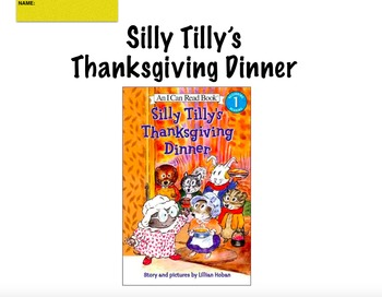 Silly Tilly's Thanksgiving Dinner Reading Response
