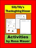 Silly Tilly's Thanksgiving Dinner Activities