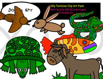 Silly Tortoise Clip Art Pack