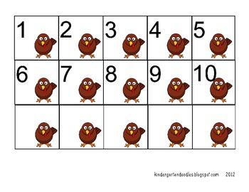 Silly Turkey Number Sense Activity