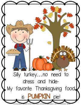 Silly Turkey!  Shared Reading Pack for Thanksgiving!  Book, Printables & More!