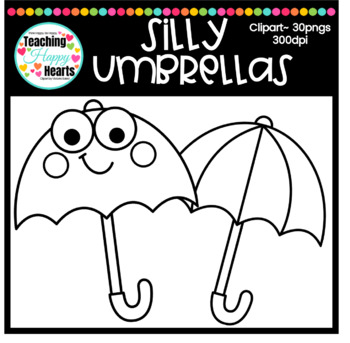 Silly Umbrellas Clipart