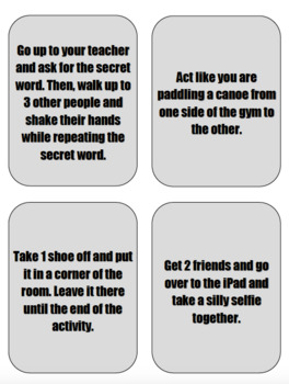 Silly Willy Icebreaker Cards!