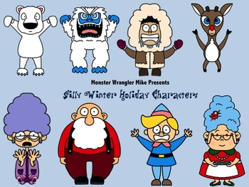 Silly Winter Holiday Character Clip Art