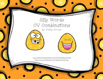 Silly Words  CV Syllable Shapes