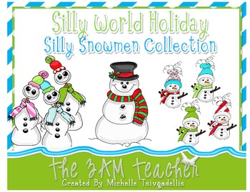 Silly World Holiday: Silly Snowmen Clip Art