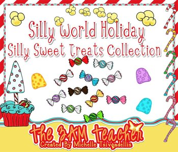 Silly World Holiday:  Sweet Treats Clip Art Collection