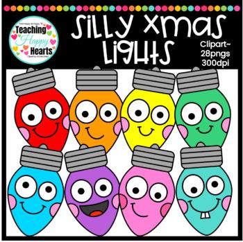 Silly X-Mas Lights Clipart