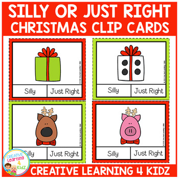 Silly or Just Right Clip Cards: Christmas
