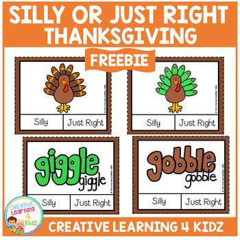 Silly or Just Right Clip Cards: Thanksgiving
