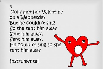 Silly song with simple percussion for Valentine's day video mp3