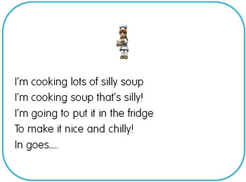 Silly soup game: Initial letter sound game for phoneme recognition