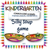 Silly soup game: Initial letter sound game for phoneme rec